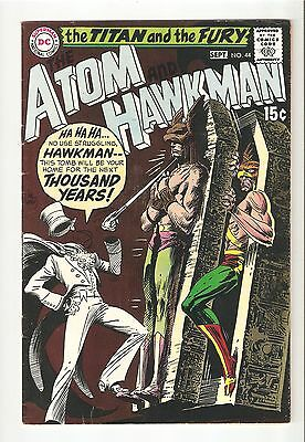 The Atom and Hawkman #44 (Sept 1969 ) FN-   5.5