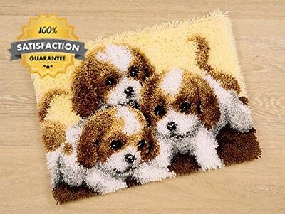 Vervaco Three Puppies Latch Hook Rug Kit, Multi Colour