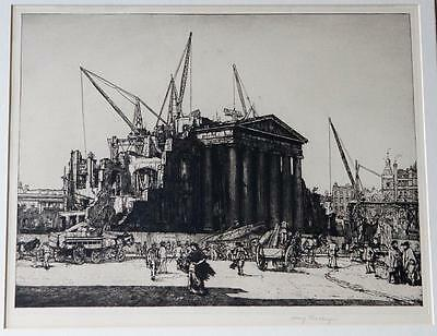 Sir Henry Rushbury R.A. R.E. - The Last of the GPO - Original Signed Etching
