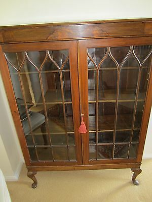 Antique Bookcase Or Display Cabinet