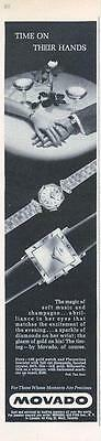 1962 Movado Watch PRINT AD features his and her watches romantic great for doc