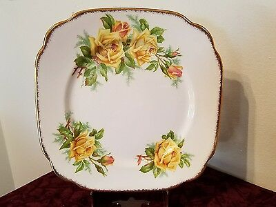 Royal Albert, yellow tea rose, dessert plate. 8""