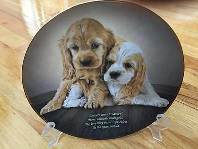 Danbury Mint Love They Share Cocker Spaniel Litmed Edition Plate