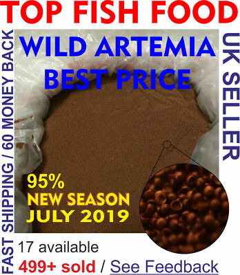 WILD ARTEMIA EGGS / Brine shrimp EGGS from Great Salt Lake. 100% Natural
