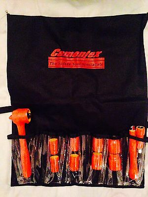 """Cementex ISS38-11L Insulated 3/8"""" Dr SAE Deep Socket Set 11-Pc"""