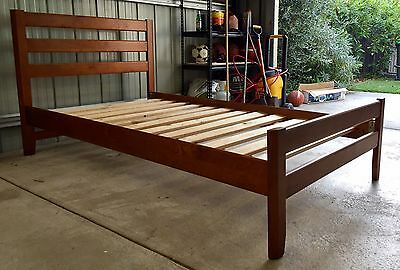 King Single Bed Frame with Bedside Table