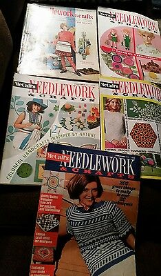 McCall's Needlework and Crafts magazine Lot of 1968-1974, knit, crochet, crewel