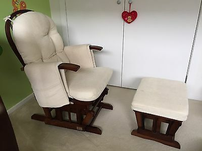 Baby Breast Feeding Reclining Chair With Ottoman