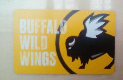 Buffalo Wild Wings Gift Card 2017  - Collectible, Mint