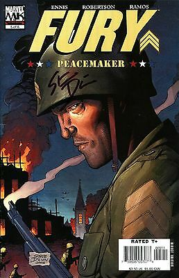 Sgt. Fury Peacemaker #5 Signed By Artist Steve Dillon (Lg)