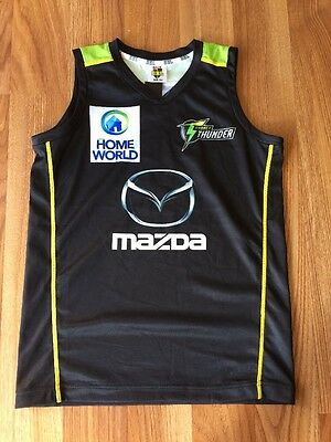 Kids Big Bash League BBL T20 Sydney Thunder Singlet Top Shirt Size 10 NWT