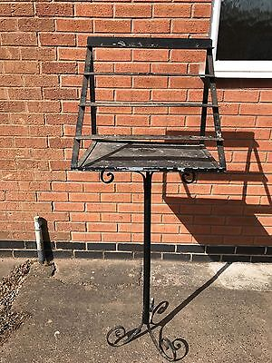 Original Large Wrought Iron Church Candle Stand 150cm High Garden Feature