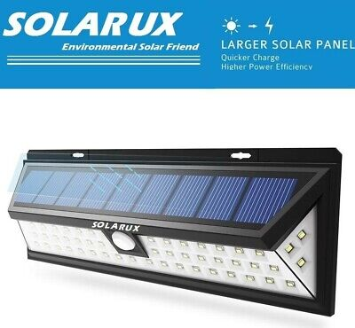 SOLARUX 54 LED Solar Power PIR Motion Sensor Outdoor Garden Security Wall Light
