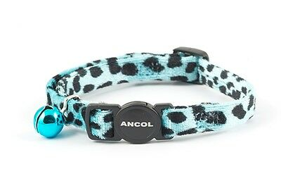 Ancol Cat Collar Leopard Print Design Blue