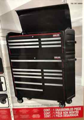 """42"""" Professional 6 Drawer and Cabinet Top Chest with 10 Drawer Bottom Tool Chest"""
