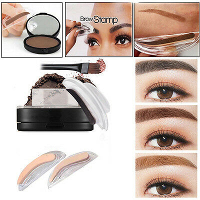 Natural Eyebrow Powder Makeup Brow Stamp Palette Delicated Shadow Definition Hot