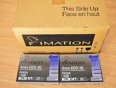 IMATION Box of 10 4mm DDS-90 Data Tapes Bonus 2 Cleaning cartridgs