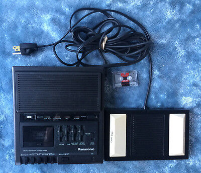 Panasonic RR-930 Microcassette Transcriber Recorder Player w/ Pedal RP-2692 Tape
