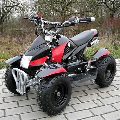 Miniquad Atv Cobra 49cc Pocketquad Quad Pocket Bike Kinderquad schwarz-rot