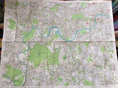 """geographia"" Greater London Plan/map Of South-West London On Cloth."