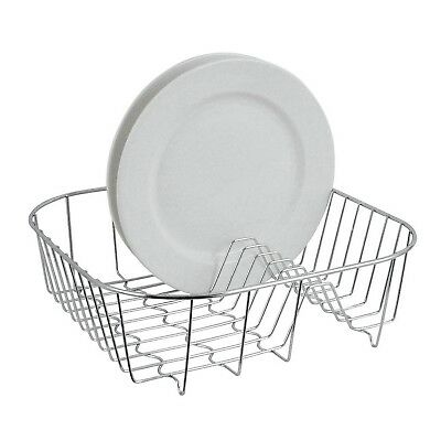 Premier Housewares Kitchen Sink Chrome Plate Holder Dish Drying Drainer Rack New