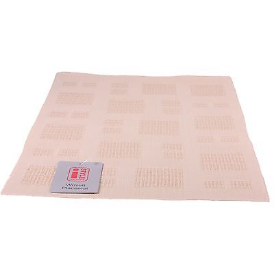 4 iStyle - Teslin Woven Placemat 30cm x 45cm - Cream Squares