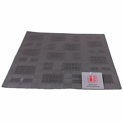 4 iStyle - Teslin Woven Placemat 30cm x 45cm - Grey Squares
