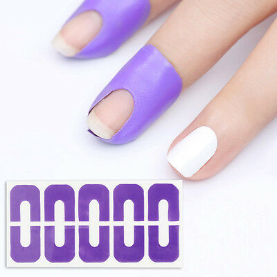 BORN PRETTY Peel Off Tape Spill-resistant Nail Protector U-shape Finger Sticker