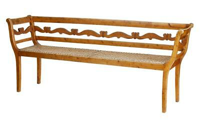 19Th Century Swedish Carved Pine Bench