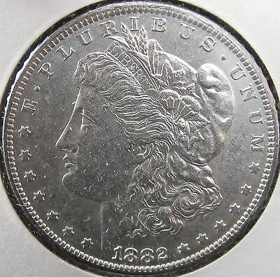 #2836 Raw High AU Quality 1882-O Morgan Silver Dollar No Reserve