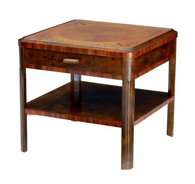Late Art Deco Birch Inlaid Coffee Occasional Table