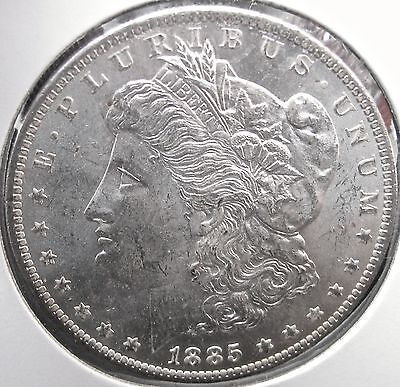 #2840 Raw MS+++ Choice Quality 1885-O Morgan Silver Dollar No Reserve