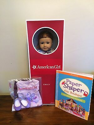 American Girl Doll Emily + Book + AG Outfit  Retired NIB