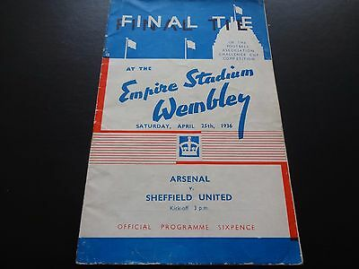 1936 FA Cup Final  -  Arsenal  v  Sheffield United