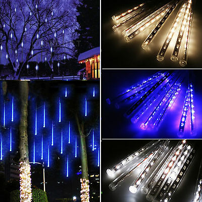 80/144/240 LED Meteor Shower String Tubes Lights Outdoor Indoor Christmas Party