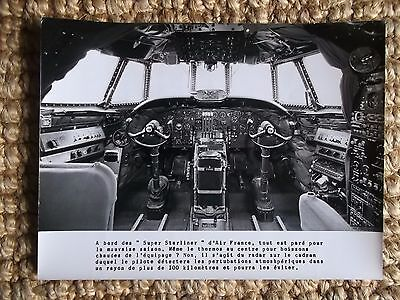 Photo Originale Poste De Pilotage Cockpit Super Starliner Air France
