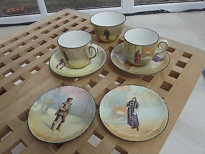 Part Tete a Tete Set Royal Doulton Seriesware -  Shakespearean Characters