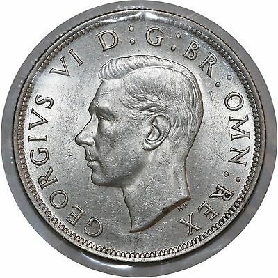 1945 Great Britain UK King George VI Silver Half Crown KM-856 High Grade Coin