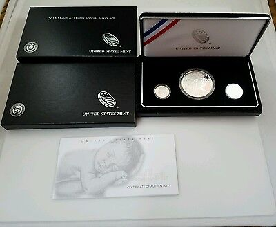 2015 March of Dimes Proof Special Silver Set - Reverse Proof - US Mint Box & COA