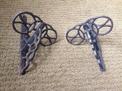 Pair Of Vintage Snow Birds Roof Barn Ice Cast Iron Architectural Salvage