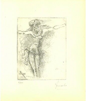 SALVADOR DALI' - etching on original paper of '60s - MUSEUM QUALITY!!!
