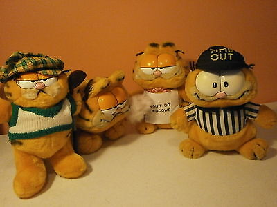 Garfield-Lot of 4-Dakin-Golfer-Referee-Don't Do Windows-Garfield