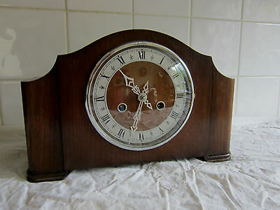 Lovely Vintage Chiming Mantle Clock-Smiths