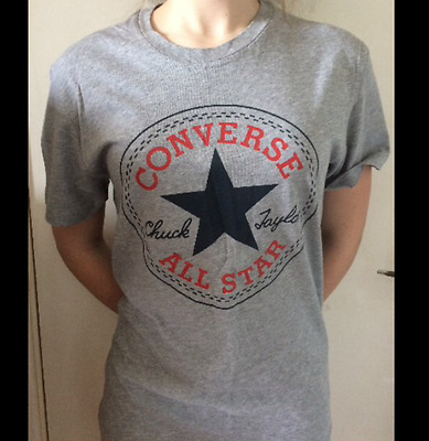 Converse all star unisex grey top, worn once, size small