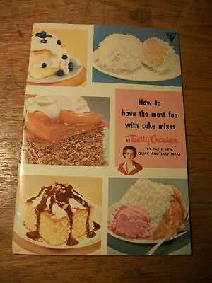 Vintage Betty Crocker Cake Mix Booklet