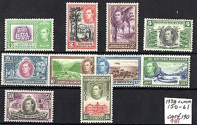British Honduras KGVI 1938 Set To $1 SG150/159 Mint MVLH X6560