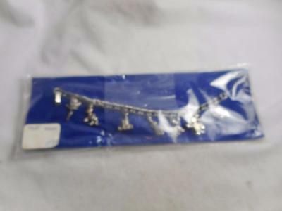 Rare Early 1960S Nos Wrapped  Disneyland Character Charm Bracelet
