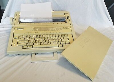 Brother AX-250 portable electric electronic typewriter works!