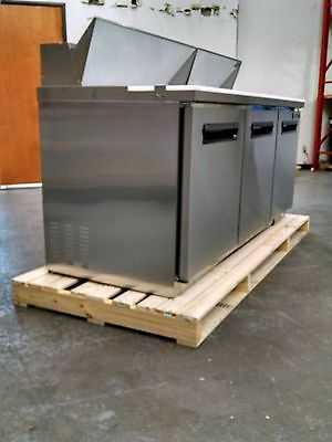 "MAXX Cold72"" Commercial Salad & Sandwich Refrigerator Prep Table Cooler MXCR-72S"