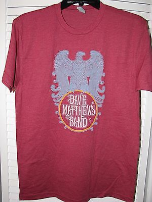 Dave Matthews Band Eagle Crest Shirt Medium NEW! Burgundy Red